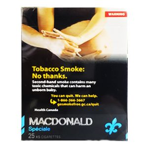 Cigarette Macdonald Filtre KS 25