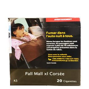 Cigarette Pall Mall XL Corsée KS 20