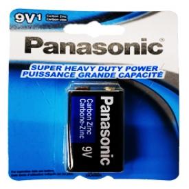 Batterie Panasonic 1x 9V Carré