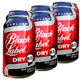 Bière Carling Black Label Dry 6.1%alc 6 Canettes 355 mL