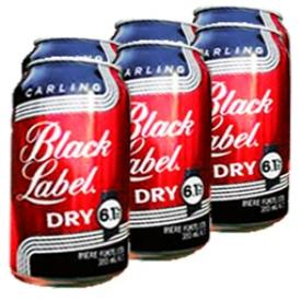 Bière Black Label Dry 6.1%alc 6 Canettes 355 mL