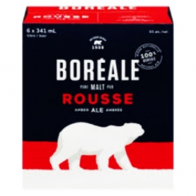 Bière Boréale Rousse 5%alc 6 Bouteilles 341 mL