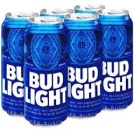 Bière Bud Light 4%alc 6 Canettes 330 mL