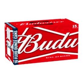Bière Budweiser 5%alc 15 Canettes 355 mL
