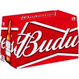 Bière Budweiser 5%alc 18 Bouteilles 341 mL