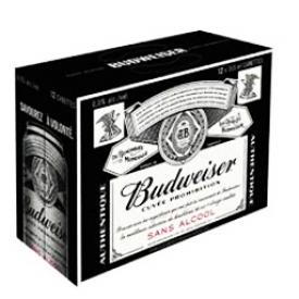 Bière Budweiser Sans Alcool 12 Canettes 355 mL