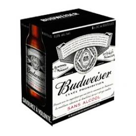 Bière Budweiser Sans Alcool 6 Bouteilles 341 mL