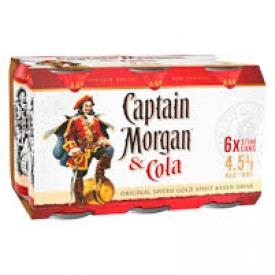 Bière Capitain Morgan 7%alc 6 Canettes 355 mL