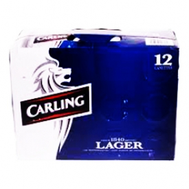 Bière Carling Lager 4.9%alc 12 Canettes 355 mL
