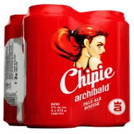 Bière Chipie Archibald 5%alc 4 Canettes 500 mL