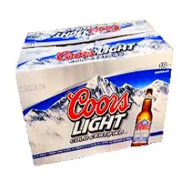 Bière Coors Light 4%alc 18 Bouteilles 341 mL