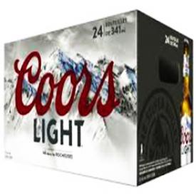 Bière Coors Light 4%alc 24 Bouteilles 341 mL
