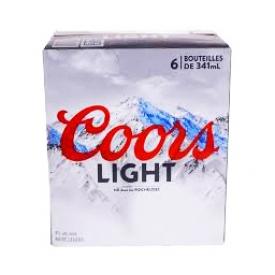 Bière Coors Light 4%alc 6 Bouteilles 341 mL