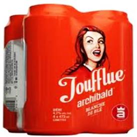 Bière Foufflue Archibald 4.2%alc 4 Canettes 473 mL