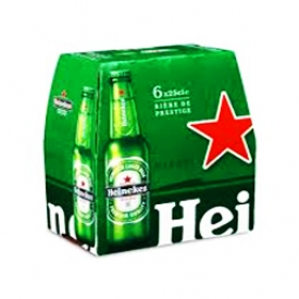 Bière Heineken 5%alc 6 Bouteilles 330 mL