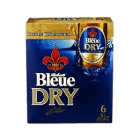 Bière Labatt Bleue Dry 6.1%alc 6 Bouteilles 341 mL