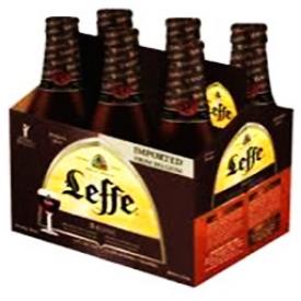 Bière Leffe Brune 6.5%alc 6 Bouteilles 341 mL