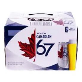 Bière Molson Canadian 67 3%alc 12 Canettes 355 mL