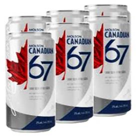 Bière Molson Canadian 67 3%alc 6 Canettes 355mL
