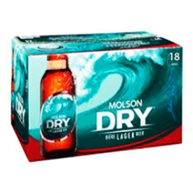 Bière Molson Dry 5.5%alc 18 Bouteilles 341 mL