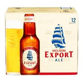 Bière Molson Export Ale 5%alc 12 Bouteilles 341 mL