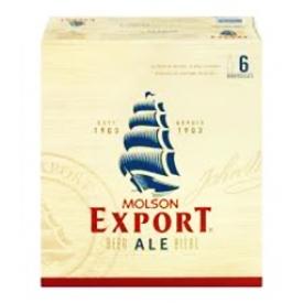 Bière Molson Export 5%alc 6 Bouteilles 341mL
