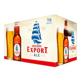 Bière Molson Export Ale 5%alc 18 Bouteilles 341 mL