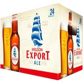 Bière Molson Export Ale 5%alc 24 Bouteilles 341 mL