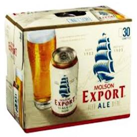 Bière Molson Export Ale 5%alc 30 Canettes 355 mL