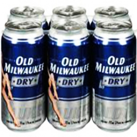 Bière Old Milwaukee Dry 5.9%alc 6 Canettes 355 mL