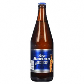 Bière Old Milwaukee Dry 5.9%alc Bouteille 625 mL