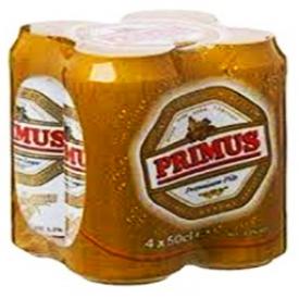 Bière Primus 5.2%alc 4 Canettes 500 mL