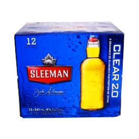 Bière Sleeman Clear 2.0 4%alc 12 Bouteilles 341 mL