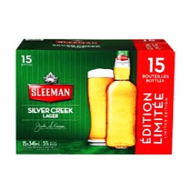 Bière Sleeman Silver Creek Lager 5%alc 15 Bouteilles 341 mL
