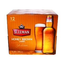 Bière Sleeman Honey Brown Lager 12 Bouteilles 341 mL