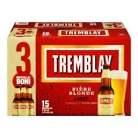 Bière Tremblay Blonde 4.9%alc 15 Bouteilles 341 mL