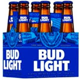 Bière Bud Light 4.0%alc 6 Bouteilles 341 mL