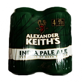 Bière Alexander Keith's India Pale Ale 5%alc 4 Canettes 473 mL