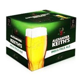 Bière Alexander Keith's India Pale Ale 5%alc 12 Bouteilles 341 mL