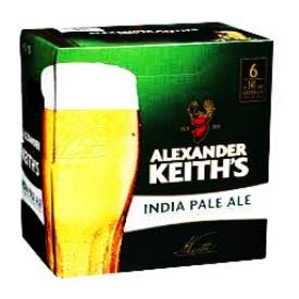 Bière Alexander Keith's India Pale Ale 5%alc 6 Bouteilles 341 mL