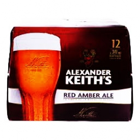 Bière Alexander Keith's Red Amber Ale 5%alc 12 Bouteilles 341 mL