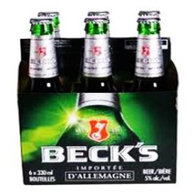 Bière Beck's 5%alc 6 Bouteilles 330 mL