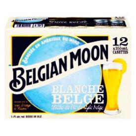 Bière Belgian Moon Blanche Belge 5.4%alc 12 Canettes 355 mL