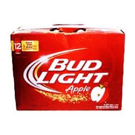 Bière Bud Light Apple 4%alc 12 Canettes 355 mL