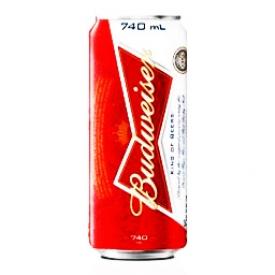 Bière Budweiser 5%alc Canette 740 mL