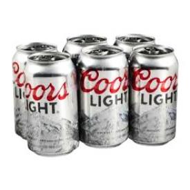 Bière Coors Light 4%alc 6 Canettes 355 mL