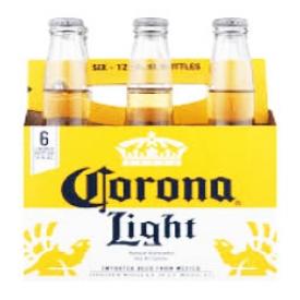 Bière Corona Light 3.9%alc 6 Bouteilles 330 mL