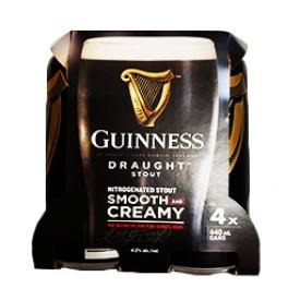 Bière Guinness 4.2%alc 4 Canettes 473 mL