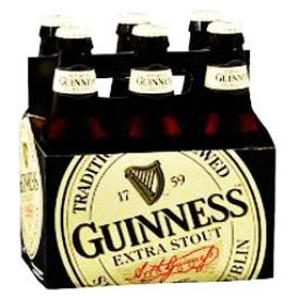 Bière Guinness Extra Stout 6 Bouteilles