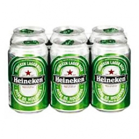 Bière Heineken 5%alc 6 Canettes 330 mL